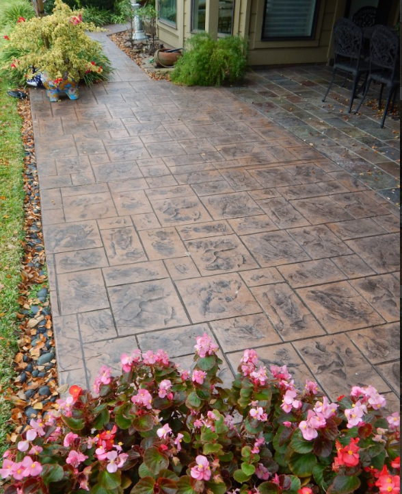 Picture of stamped concrete patio in Ann Arbor.